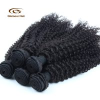 Thick Stock Remy Hair Extensions Black Women Peruvian Curly virgin hair-Hair in Kenya