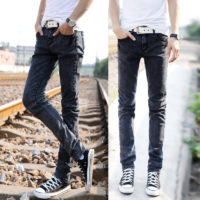 Distressed jeans thin mens fashion brand denim jeans fashion