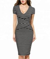 Women Sexy Short Dress New Style Sundress Party Dress Stripe Dress-Best Womens Clothes Online in Kenya