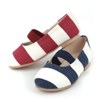 Canvas fabric  cheap red with blue streak flat casual plain kids girls shoes-Kids store in Mombasa,Nairobi-Kenya