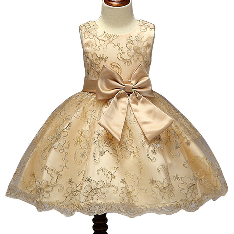 best sneakers a42b3 63fd0 Designer One Piece Kids Clothes Online Golden Luxury Lace Embroidery Summer  Frock Designs Girls Party Dresses L9027-Kids clothing in Mombasa,Nairobi ...