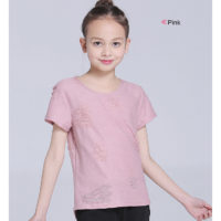 Girls T shirts Tops Short Sleeve Cotton O neck Kids T shirt Tees Ripped Solid Spring 2018 New Fashion Size 9 10 11 12 13 14 Year-Kids clothing store in Kenya-Nairobi,Mombasa