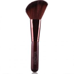JY 1Pcs Round Angled Top Makeup Brush Power Foundation Blush Concealer Contour Blending Highlight Cheek Brush Beauty Tool-Ma