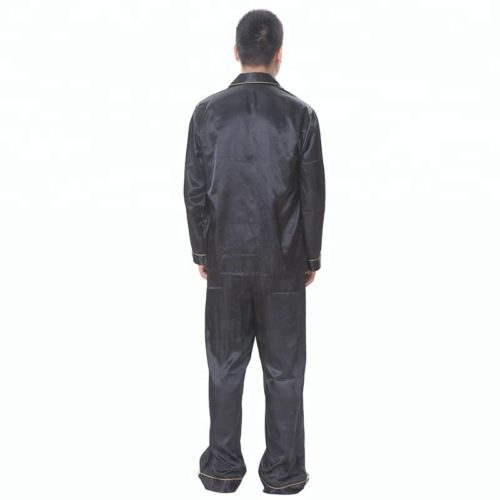 Men-s-black-satin-pajamas-summer-sleepwear (2)