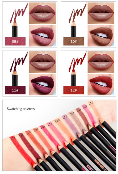 Qibest-Brand-Waterproof-Makeup-Wood-Lipliner-Pencil (4)
