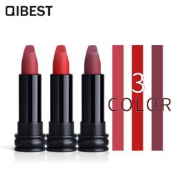 Waterproof Sexy 3 Colors Matte Lipstick Set Nude Velvety Moisturizing lip balm Lip Makeup lipbalm-Makeup in Kenya