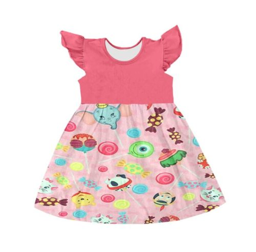 Sweet-Baby-Girls-Dresses-Colorful-Sleeveless-Ruffles