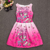 Unique Baby Girl Lovely Girl Dress Kids Party Dresses Art Painting Tutu Summer Dress-Kids clothing store in Kenya-Mombasa,Nairobi