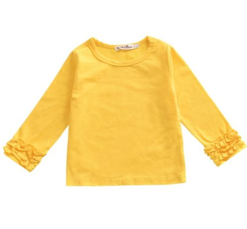 Wholesale-Solid-Color-Girl-Tops-Ruffle-Tee (2)