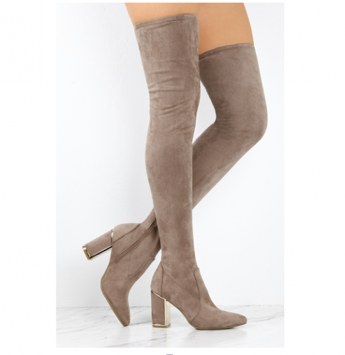 Woman-winter-high-heel-boots-Taupe-suede (1)