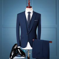 Business cashmere wool mens suit