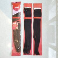1PC  Japan High Temperature Fiber Synthetic Long Straight Hair Weaving for Afro Women