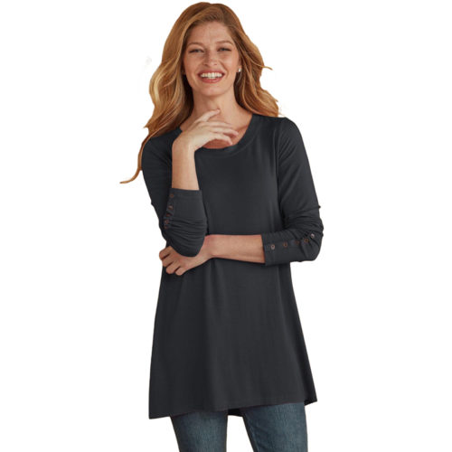 Women-Apparel-Black-Classic-Long-Sleeve-Blouse (1)