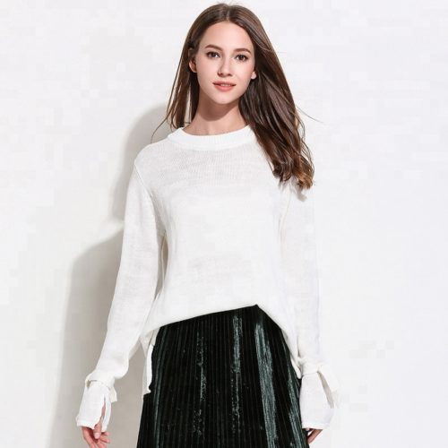 ladies-white-pullover-knit-sweater-2018-lady (2)