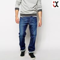 2015 relaxed loose fit dark wash design pants for men baggy jeans pants types JXQ1063