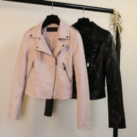 B10443A fashionable cheap women pu leather jacket for ladies