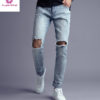 Custom-Slim-Fit-Light-Blue-ripped-Jeans (1)