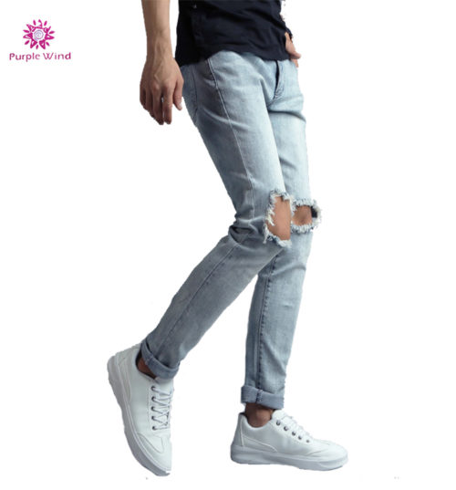 Custom-Slim-Fit-Light-Blue-ripped-Jeans