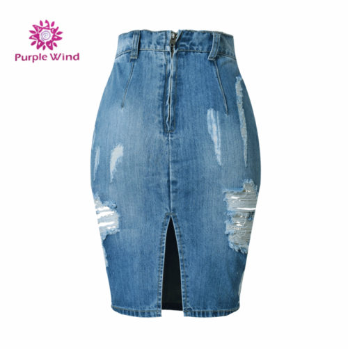 Factory-price-special-design-midi-denim-splitted (2)