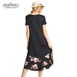 Hot Selling Striped Jersey Dresses For Women