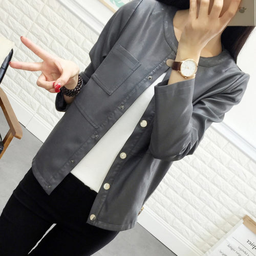 Ladies-spring-grey-leather-blazer-jacket-for (2)