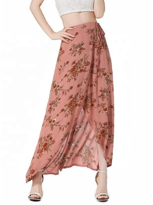 OEM-Clothing-Low-MOQ-Chiffon-Floral-Printed