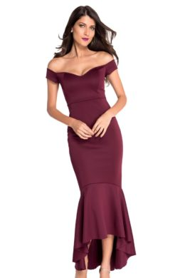 Party Night Club Evening Dress For Women Black Off The Shoulder Mermaid Jersey Formal Gown Dresses V601710