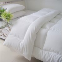 Soft and Comfortable White Blanket Bed Quilt Duvet Double Size