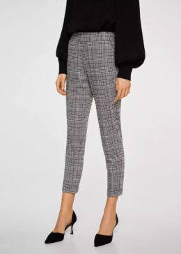 Summer Hot Selling Lady Pants Women Casual Plaid Trousers