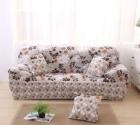 Hot sale flower printed 100% polyester water proof stretch sofa cover