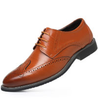 New Extra Large Size Men Genuine Leather Shoes Fashion Casual Mens Dress Shoes