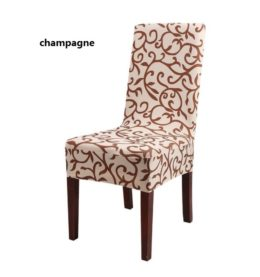 WQ33 Printed Pattern chair covers universal size Simple and short elastic wedding spandex chair cover