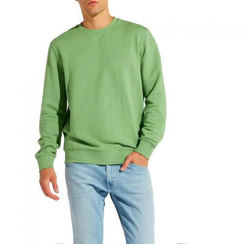 Customized-Cotton-plain-pullover-Round-Neck-Long