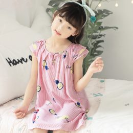 2019 New Young Little Children Baby Girl Nightgown Night Dresses For Girls Nighty Dress Sleeping