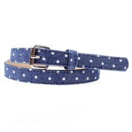 Blue Young Girls Fashion Leather Belt For Garment
