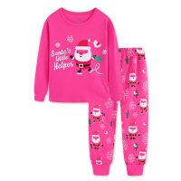 Kids Baby Boys Girls Cartoon Christmas Pajamas Tops Pants Outfits Set Long Sleeve printing Children Clothing