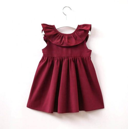 Wholesale-cotton-baby-girl-party-dresses-children
