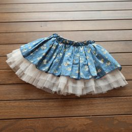 high quality dress designs for young girls kids mini dance tutu girls casual skirts with flowers