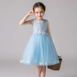 Princess Flower Girl Dress Summer Tutu Wedding Birthday Party Kids Dresses For Girls