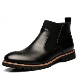 Genuine Leather Ankle Chelsea Boots Men Shoes in Kenya