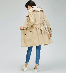 Elegant women spring fashion khaki trench coat in Kenya