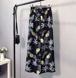 2019 Women Fashion Floral Pants Ladies Casual Wide-leg Trousers in Kenya