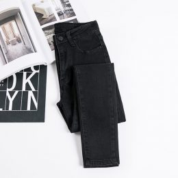 Female Denim Pants Color Womens Jeans Stretch Bottoms Skinny Pants For Women in Kenya