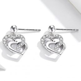 New Arrival Double Cross Heart Dangle Earrings in Kenya
