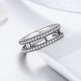 Sparking CZ Stone 925 Sterling Silver Finger Rings for Women