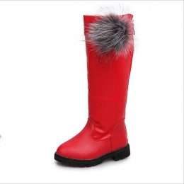 Winter girl boots long snow boots for girl in Kenya
