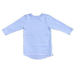Girls blank long sleeve scoop hem long line ruffle T-shirt in Kenya